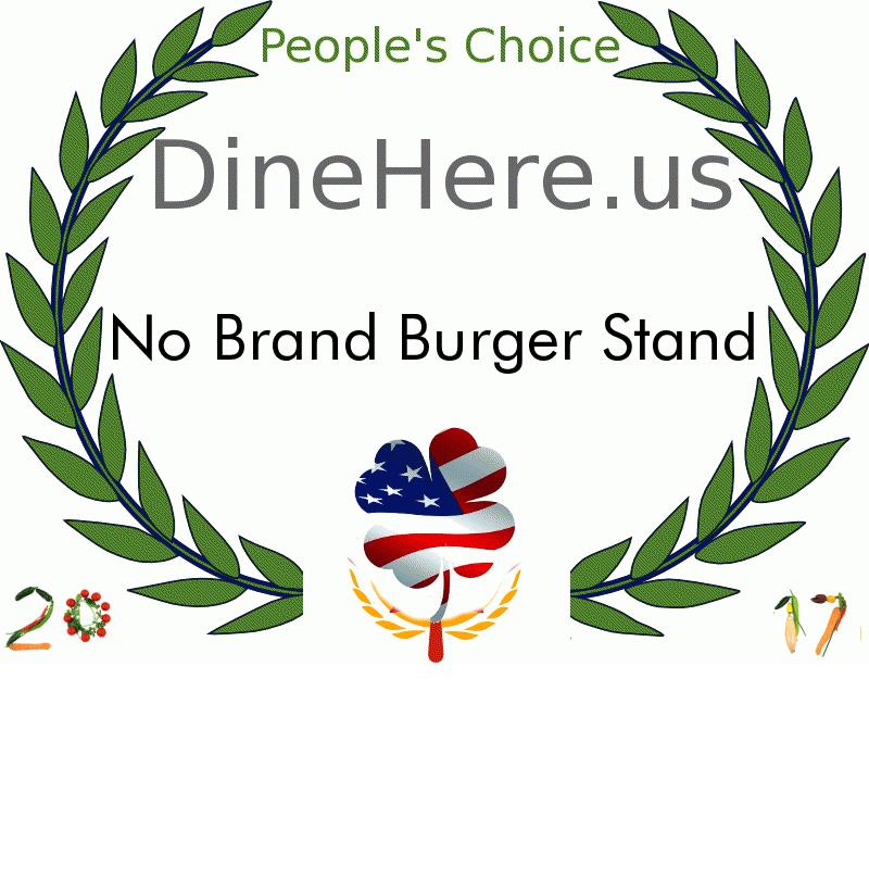 No Brand Burger Stand DineHere.us 2017 Award Winner